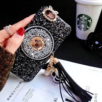 Wholesale star glitter rhinestone case online – custom 2018 New Luxury For iphone X XS XS Max XR s Plus Women Bling Case Diamond Glitter Tassel Stars Chain Girl Lady style Case