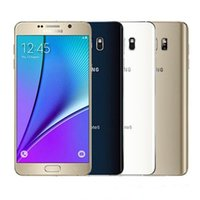 galaxy note quad core al por mayor-Samsung Galaxy Note 5 N920A ATT Original desbloqueado GSM Teléfono móvil Android 4GB RAM 32GB ROM Quad-coreQuad-Core 5.7