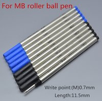 mavi yaz toptan satış-Sıcak Satmak-10 adet Yüksek Kalite MB veya siyah 0.7mm Kalem Yedekler için roller roller kalem kırtasiye okul ofis yazma pürüzsüz 710 mürekkep doldurul ...