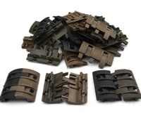 Wholesale Covers Rails - 32 pcs lot Tactical Airsoft panels Picatinny rail Handguard cover AR15 M4 AK airsoft handguards Protector Resistant Hunting