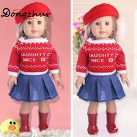 amerikanische puppenschuhe 18 großhandel-18 Zoll American Girl Puppe Hut Pullover Rock Anzug Baby Born Puppenzubehör 18