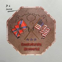 Wholesale usa signs - DL- confederate memorial USA map vintage metal signs, irregular, man cave signs and decor