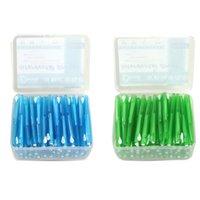 diş telleri toptan satış-60 Adet Itme-Çekme İnterdental Fırça 0.7 MM Diş Diş Çekmek Interdental Temizleyiciler Ortodonti Tel Kürdan ToothBrush Ağız Bakımı
