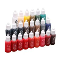 Wholesale biotouch pigments - 2018 Fashion Biotouch 3D Micro Pigment Lip Makeup Ink Semi-permanent Makeup Tattoo Ink for Professional Eyebrow Artist