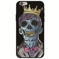 Wholesale iphone skull silicone online – custom Skull Skin For iPhone G S SE X Xr Xs Max Cover TPU IMD Case Soft Gel Rubber Plastic Silicone Protective Shell