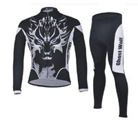 Wholesale Ghost Suit - 2017 ghost wolf Ironman triathlon and a fleet of winter riding suits to customize long sleeved trousers