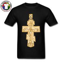 christian t shirts xl achat en gros de-Christian Christian Cross 100% coton O Neck Mens Tops T-shirt d'été Tees T-shirt surdimensionné à manches courtes pour adulte Nouveau style