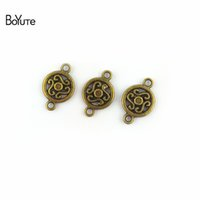 Wholesale bronze connector 12mm for sale - Group buy BoYuTe Pieces MM Antique Bronze Silver Plated Zinc Alloy Materials Diy Connectors Charms for Jewelry Making Accessories