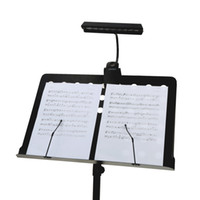 Wholesale bendable glasses resale online - Flexible Stand Clip LEDs White LED Table Lamp Portable Bendable Orchestra Stand LED Music Score Light V USB Powered or AA Batteries