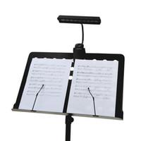 suportes para lâmpadas flexíveis venda por atacado-Suporte Flexível 9LEDs Branco LED Candeeiro de Mesa Portátil Orquestra Bendable Suporte LED Pontuação Da Música Luz 5 V USB Alimentado ou 3 Baterias AA