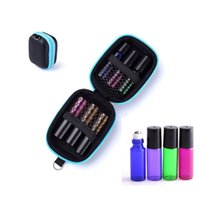 Wholesale 6 Bottles Essential Oil Case Protects For ml Rollers Essential Oils Bag Travel Carry Storage Bags Organizer