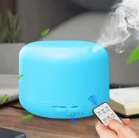 ingrosso diffusore per la casa-Nuovo 300ml Aroma Olio Essenziale Diffusore Ultrasuoni d'Aria Umidificatore 7 Colori che cambiano Lampada LED Tutta la casa Telecomando DHL gratuito