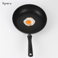Wholesale stainless cooker for sale - Group buy Aluminum Agniers Black Nonstick Inch Stir Fry Pan Deep Frying Pan Cookware With Stainless Steel Lid Cooker Aluminum Alloy