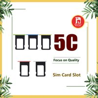 Wholesale slot sim card tray iphone 5c for sale - Group buy Sim Card Tray Slot Holder Replacement for Apple iPhone C Colorful Card Slot for iphone C Accessories White Pink Green Yellow Blue