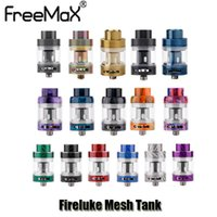 Wholesale Carbon Fiber Thread - 100% Original Freemax Fireluke Mesh Tank 3ml Top Refill Carbon Fiber Resin Color Atomizer With Mesh Coil For 510 Thread Box Mod Genuine
