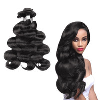 Discount natural black 1b hair color - Best-Selling Brazilian Hair Weave New Stylish 1B Natural color Black Body Wave Hair Soft Can Be Dyed Virgin Human Hair Wig Unprocessed