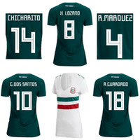 Wholesale 18 r - 18 19 Womens Mexico home away football jersey CHICHARITO 2018 female soccer shirts R MARQUEZ Football tops G DOS SANTOS H LOZANO Uniforms