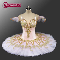 Wholesale women sleeping beauty costume - Adult Pink Ballet Tutu Sleeping Beauty Perfromance Stage Wear Women Ballet Dance Competition Costumes Girls Ballet Skirt Apperal