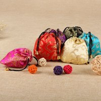 Wholesale chinese silk drawstring bags for sale - Group buy Chinese Silk Drawstring Mini Storage Bags Women Jewelry Storage Bag Embroidery Packaging Bags Jewelry Display Coin Purses