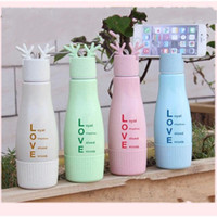 Wholesale phone cup holder resale online - Creative Phone Holder Multi Color Cartoon Deer Horn Glass Cup Wheat Straw Water Bottle zw C R
