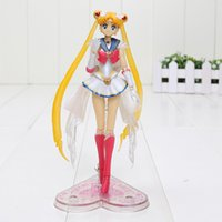 luna marinera caliente al por mayor-14cm Hot Anime S.H. Figuarts Super Sailor Moon figura de acción de PVC Model Doll Girl Kids toy