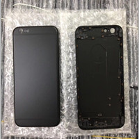 Wholesale Iphone Spares - Metal Spare Parts Card Chassis Frame Housing Back Battery Cover Middle Frame Matte Black Housing For i Phone 6 6S 6 plus