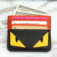 Wholesale wallets clips resale online - Designer Card Holder credit card holder leather Spoof Small Monster Clip Bank Bag mens card holder Super slim wallet styles