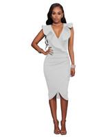 3561067c51793 seksi yazlık moda elbiseleri toptan satış-2018 Yeni Yaz kadın Casual Elbise  Polyester Kolsuz Fırfır