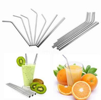 Wholesale stock drinking straw resale online - Stainless Steel Straw Stainless Steel Straw Steel Drinking Straws Reusable ECO Metal Drinking Straw Bar Drinking Straws CCA9397