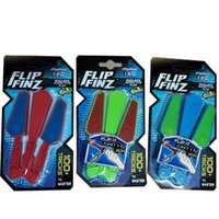 Wholesale fingertip lights - Flip Finz Revolving Butterfly Knifes LED Light Up Decompression Fingertip Toy Fidget Spinner Essential Tool Rotatable Balisong Toys 12xc YY