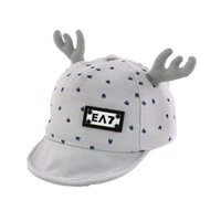Wholesale Deer Hats Children - 2018 Spring New Unisex Child Baseball Cap Kid Baby deer horn Design print Adjustable Soft Brim Baseball Ear Hat MZ5513