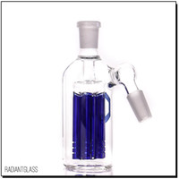 Wholesale high 45 - 6 Arm tree perc ash catcher 45 degree Wholesale high quality 14mm blue for water pipe bongs
