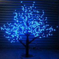 ingrosso ha condotto l'albero artificiale della ciliegia chiara-LED Artificiale Cherry Blossom Tree Light Natale String Light 1152pcs LED Lampadine 2m / 6.5ft Altezza 110 / 220VAC Impermeabile Outdoor Garden Decor