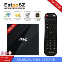 Wholesale dual lan - [2018 Newest EstgoSZ 3G 64G TV Box] Amlogic S912 Android 7.1 Octa Core 64 Bits With Dual Band WIFI 1000M LAN Best Selling Model