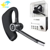 işletme numaraları toptan satış-Yüksek kaliteli V8s Bluetooth kulaklıklar CSR V4.0 Iş Stereo Kulaklık Mic Ile Kablosuz Evrensel Ses Raporu Numarası Handfree kulaklık