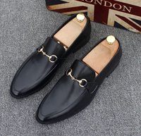 Wholesale men causal style shoes - Hot Sale Fashion Mens Shoes Top Quality British Style Causal Luxury Shoes Business Designer mens 37-44