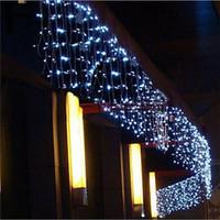 luzes cortinas roxas venda por atacado-5 M Natal LEVOU Cortina Icicle String Light droop 0.4-0.6 m LED Partido Jardim Estágio Ao Ar Livre À Prova D 'Água Decorativa Fada luz