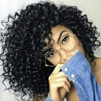 Wholesale afro bob wigs online - 8A Grade Malaysian Afro Kinky Curly Short Human Hair Bob Wigs For Black Women Best Guless Short Curly Lace Wigs with Baby hair