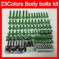 Wholesale Cbr954rr Plastics - Fairing bolts full screw kit For HONDA CBR954RR 02 03 CBR900RR CBR 954 RR 900RR CBR954 RR 2002 2003 Body Nuts screws nut bolt kit 23Colors