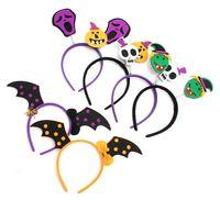 yarasam komik toptan satış-6 stilleri Cadılar Bayramı bandı Yarasalar Kabak Saç Bantları Hoop Çocuk Komik Parti Sahne Headbands Headdress Çocuklar Parti favor GGA807 700 adet
