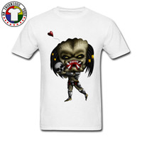 nuevo estilo de camisetas de moda al por mayor-Simple Style Predator Funny Men's Shirt Camisetas de moda Big Large Size White Tshirt On Sale New Arrival Unique Design Tees