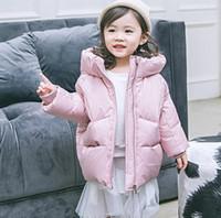 küçük kız ceketi toptan satış-2018 çocuk kalın aşağı ceket gelgit fan uzun kızlar orta ve küçük çocuk bebek çocuk giyim sonbahar ve kış ceket toptan