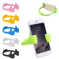 Wholesale Fashion Mini Plastic OK Stand Thumb Design Universal Portable Phone Stand Holder Mount For iPhone Plus Samsung Galaxy S6 S5 HTC iPad Air