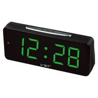 gran pantalla led reloj al por mayor-Números grandes de escritorio electrónico Relojes despertadores digitales Enchufe de la UE Tablero de poder de CA con 1.8 Pantalla LED grande decoración del hogar D