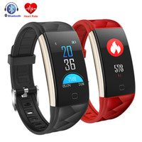 Wholesale Color White Activities - 2018 New Smart Bracelet T20 Wristband Heart Rate Monitor Fitness Activity Tracker Color Screen Smartband Android IOS Sport Band With Box