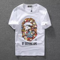 camisas luminosas al por mayor-Caliente de alta calidad Monkey Luminous Print manga corta hombres S T-Camisa de calidad superior hombres y mujeres Casual par camiseta