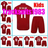 Wholesale shorts teen - Boys Rugby 2018 2019 Kids Jersey Gerrard Jersey M SALAH COUTINHO LALLANA FIRMINO 18 19 child teens Home Jerseys red