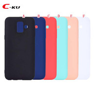 Wholesale y5 phones for sale – best Colorful Soft TPU Silicone Case For Samsung Galaxy A6 Plus J4 J6 EU US J8 Huawei Y6 Y5 Plain Smooth Phone Skin Cover
