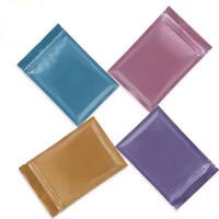 bolsas de plástico con cremallera al por mayor-Bolsa de Mylar con cierre hermético de varios colores Almacenamiento de alimentos Bolsas de papel de aluminio bolsa de plástico a prueba de olores en stock