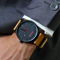 relojes mov al por mayor-EPOZZ diseño sencillo Japón MIYOTA MOV mejores hombres del reloj de hora marrón genuino reloj de la correa de cuero masculino Masculino del relogio